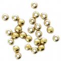 Sterling silver round beads 1.8 mm gold plated 24 carats 0.5 microns x100