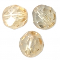 faceted round beads 8mm Luster Topaz Gold x20