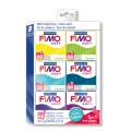Kit of 6 Fimo Soft Polymer clay loafs of 57 gr - Cold Colours x1