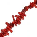 Bamboo chip beads 6-15 mm dyed imitation Coral x40 cm