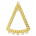 Dyed triangle laser cut spacer 36x25 mm Gold Tone x1