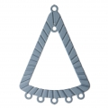 Dyed triangle laser cut spacer 36x25 mm Petrol Grey x1