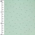 Cotton fabric - Hygge -  Metalized Dots - Mint x10cm