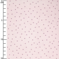 Cotton fabric - Hygge -  Metalized Dots - Pink x10cm