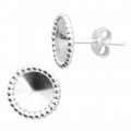 925 Sterling Silver Earstuds for Swarovski cabochons 1122 8 mm x2