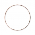 Mounting round element for beadweaving 45 mm European made - Rose Gold Tone x1
