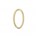 Mounting oval element for beadweaving 13x7 mm Gold Tone x1
