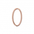 Mounting oval element for beadweaving 13x7 mm Rose Gold Tone x1