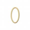 Mounting oval element for beadweaving 13x7 mm Matt Gold Tone x1