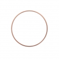 Mounting round element for beadweaving 40 mm - Rose Gold Tone x1