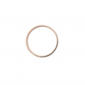Mounting round element for beadweaving 22 mm - Rose Gold Tone x1