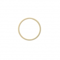Mounting round element for beadweaving 22 mm - Matt Gold Tone x1