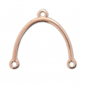 Spacer 23x24 mm Rose Gold Tone rose x1