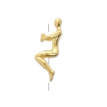 Bead/slider bead seated woman 25x8 mm for 3 mm cord Gold Tone x1