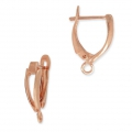 Leverback earrings design shape 18 mm Rose Gold Tone x2