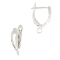 Leverback earrings design shape 18 mm Silver Tone x2