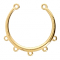 5 loops spacer to be customized 34x32 mm Gold Tone x1