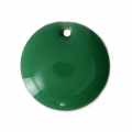 Round metal Epoxy Enamelled sequins 16 mm Green x6