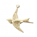 Thin swallow charm 18x19 mm - 14Kt Gold-filled x1