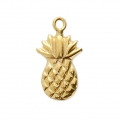 Thin pineapple charm 12.5x7 mm- 14Kt Gold-filled x1