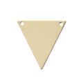 Thin triangular spacer 2 holes 18.5 mm- 14Kt Gold-filled  x1