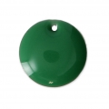 Round metal Epoxy Enamelled sequins 12 mm Green x8