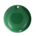 Round metal Epoxy Enamelled sequins 20 mm Green x5