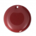 Round metal Epoxy Enamelled sequins 20 mm Red x5