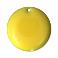 Round metal Epoxy Enamelled sequins 20 mm Yellow x5