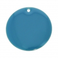 Round metal Epoxy Enamelled sequins 20 mm Blue x5