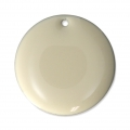Round metal Epoxy Enamelled sequins 20 mm Cream x5