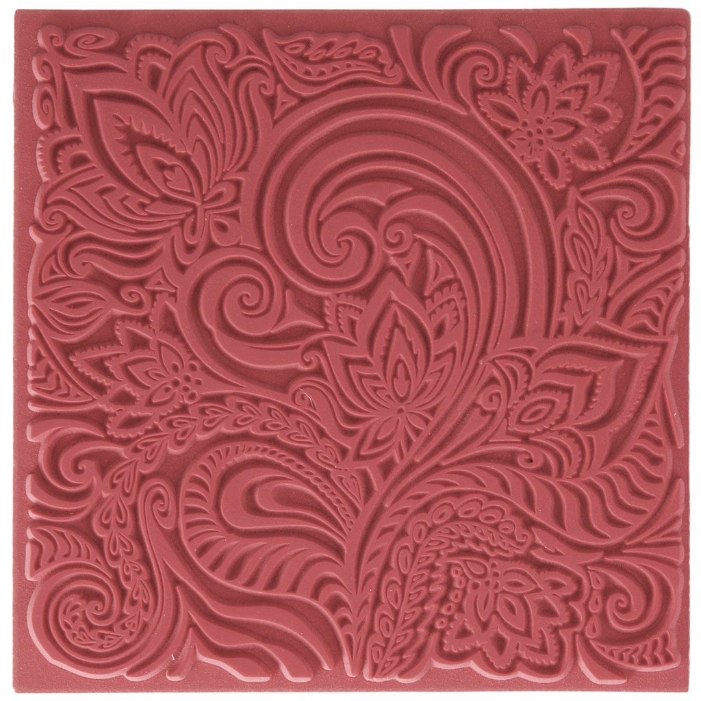 Clay Texture Sheets For Polymer Clay 9 Cm Floral X1