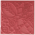 Clay Texture sheets for polymer clay - 9 cm Graphics x1