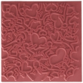 Clay Texture sheets for polymer clay - 9 cm Lovestory x1
