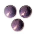 Round beads Shiny 6 mm Chalkwhite Vega Ceramic look x25