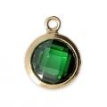 Pendant 8.5x6.5 mm Emerald/14Kt Gold-filled  x1