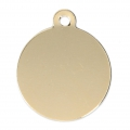Round medal to engrave 23 mm 14Kt Gold-filled  x1