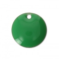 Round metal Epoxy Enamelled sequins 10 mm Green x10