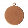 Copper pendant base for enamel powder Efcolor 22 mm x1