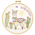 Embroidery kit - Artisanal French manufacture - Nikola the lama x1