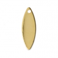 Oval charms smooth finish 15 mm Gold Tone x10