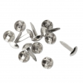 Paper fasteners 4.5 mm for creative leisure - Rhodium Tone x100