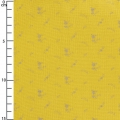 Double gauze cotton Fabric - France Duval-Stalla - Flowers - Banana/Silver x10cm