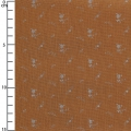 Double gauze cotton Fabric - France Duval-Stalla - Flowers - Camel/Silver x10cm