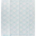 Fabric coupon for Sashiko embroidery - 31x31 cm - White Blue sea and wave