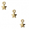 Mini star-shaped charms 7x4.5 mm for DIY jewelry creation - Gold Tone x4