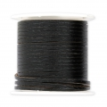 Flat lace 2 mm in reconstituted leather - Black x5m