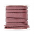 Flat lace 2 mm in reconstituted leather - Antique Pink x5m