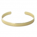 Brass bracelet with Hammered surface 6.20 mm Gold Tone x1