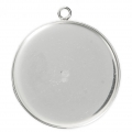 925 Sterling Silver Pendant setting for 30 mm cabochon x1
